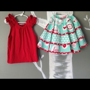Jelly the Pug boutique ruffle summer skirt outfit